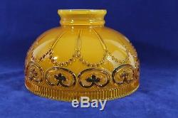 Vintage Amber Gold Cased Overlay Lamp Shade Aladdin, Coleman, Rayo 10 Fitter