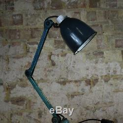 Vintage Anglepoise Lamp Emanel Shade Industrial Antique Lighting