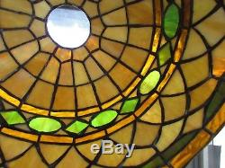 Vintage Antique Tiffany Style Stained Glass Lampshade Mission Arts & Crafts 14