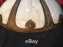 Vintage Antique Victorian Slag Glass Lamp Shade