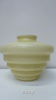 Vintage Art Deco Beehive Stepped Cased Glass Light Shade