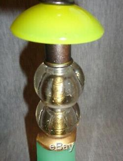 Vintage Art Deco Lamps withDesigner Fabric Shades Jadeite Glass-Best Lamps on eBay