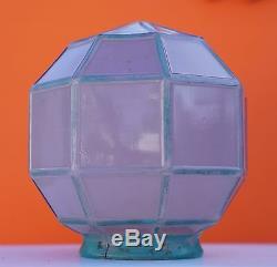 Vintage Art Deco Purple Glass Panels Light Post Shade Lamp Shade Globe 6 1/2