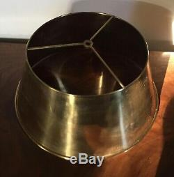 Vintage Brass Lampshade Shade for Tole or Bouillotte Lamp Empire Style