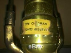 Vintage CHAPMAN RAMS HORN FLOOR LAMP Brass MCM 1976 Original Shade Works Rare