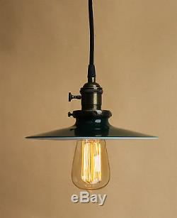 Vintage Chandelier Light 3 Cord Canopy Bronze Ceiling Pendant Light Lamp Shade