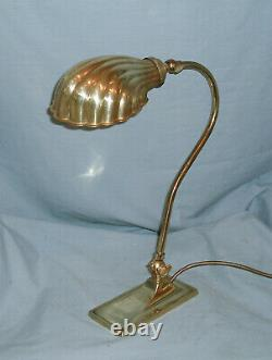 Vintage Christopher Wray Desk / Table Lamp With Clam Shell Shade