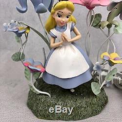 Vintage Disney Alice In Wonderland Lamp Children's Nursery Flower Light No Shade