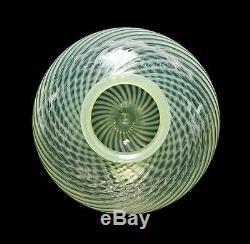 Vintage Fenton Opalescent Vaseline Swirl Art Glass Gone