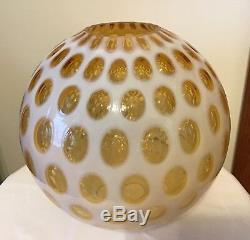 Vintage Fenton Art Glass Honeysuckle Opalescent Coin Dot 10 Lamp Shade