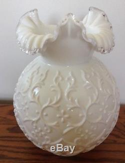 Vintage Fenton Art Glass Silver Crest Spanish Lace Lamp Shade