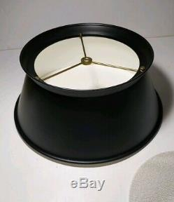 Vintage Frederick Cooper Bouillotte Brass Candlestick Lamp Black Tole Shade