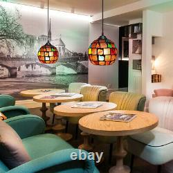 Vintage Glass Globe Ceiling Hanging Pendant Light Shade Mosaic Lighting M0105