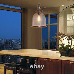 Vintage Glass Shade Chandelier Hanging Pendant Ceiling Light Diner Lantern M0120