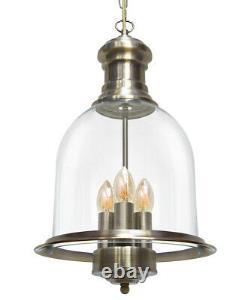 Vintage Glass Shade Chandelier Hanging Pendant Ceiling Light Diner Lantern M0121