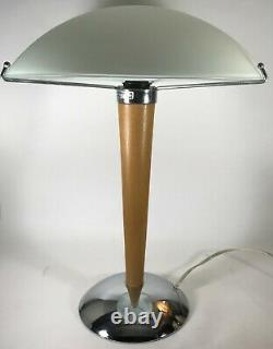Vintage IKEA Kvintol Postmodern Frosted Glass Mushroom Lamp 15 Shade Deco Style