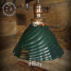 Vintage Industrial 8 X Ray Mercury Glass Mirror Lamp Shade
