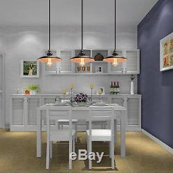 Vintage Industrial Chandelier Ceiling Light Pendant Lamp Shade Fixture in Black