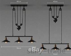 Vintage Industrial RetroAdjustable Style Metal Pendant Lights Ceiling Lamp Light
