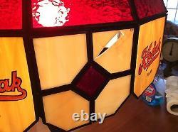 Vintage Kodak Glass Advertising Lamp 26 Tall X 17 Round Shade Works Good