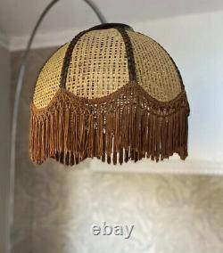 Vintage Lamp Shades Rattan Wicker Boho Vintage Petal Light Ceiling Lamp 70s