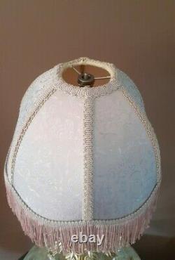 Vintage Lavendar Designer Victorian Fringe Lamp Light Shade