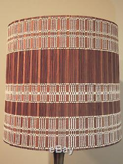 Vintage MARIA KIPP Chenille Woven LAMP SHADE Rare Mid-Century Modern 1950's