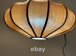 Vintage MCM 1960s/70s bubble mushroom saucer shade hanging lamp light 14 cord