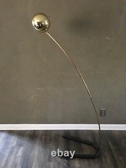 Vintage Mid Century Eames Era Atomic Eyeball Orb Shade ARC Pole Floor Lamp