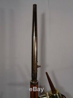 Vintage Mid Century Modern 2 Light Floor Lamp W Fabric Shades Retro