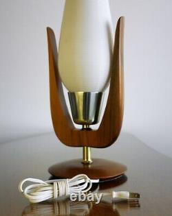 Vintage Mid-Century Modern HEIFETZ ROTAFLEX 21 Table Lamp with 2 Tones Shade