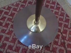 Vintage Mid Century Modern Lightolier Floor Lamp Diffused Shades Retro