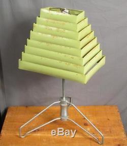 Vintage Modern Lamp & Shade Co. Mid-Century Light Shade Green Metal Telescoping