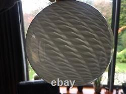 Vintage Murano Vetri Venini Classic Swirl Pattern Glass Lampshade in White No. 2