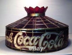 Vintage New Drink Coca-Cola Lighting Lamp Shade Red Tulip Design VERY RARE