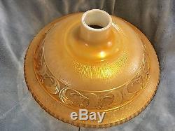 Vintage Nu Gold Embossed Torchiere Floor Lamp Shade Art