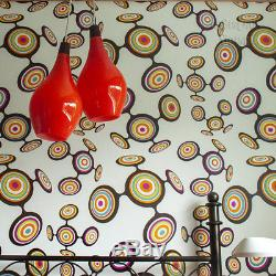 Vintage PAIR of 1960s/70s Orange Art Glass Pendant Ceiling Lights FREE UK P&P