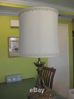 Vintage Pair Custom Made Victors Lighting Lamp Shades 16 T