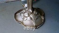 Vintage Pair Paris Star Art Deco Reproduction French Table Lamps Glass Shades
