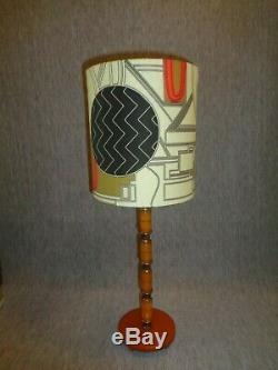 Vintage Pair of Art Deco Bakelite Lamps with Designer Fabric Shades -World Class