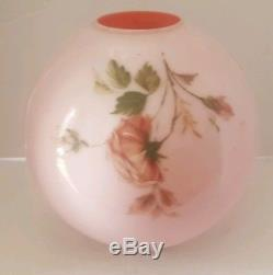 Vintage Pink Rose Replacement Lamp Shade Globe Ball Banquet 4 Fitter