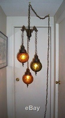Amber Glass Floor Lamp
