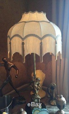 Vintage Retro Traditional Downtown Abbey Deco Victorian Ivory Silk Lampshade
