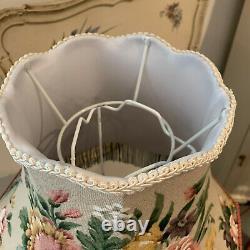 Vintage Sanderson'Allegro' 1950's/60's floral linen fringed 15 lampshade