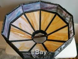 Vintage Slag Glass Dome Lamp Shade Birds Swallows in Flight 22 Poul Henningsen