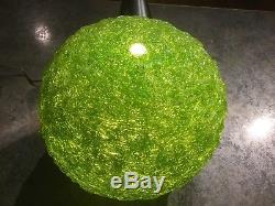 Vintage Spaghetti Spun Lucite Green Lamp Shade 1960's Retro Mid Century