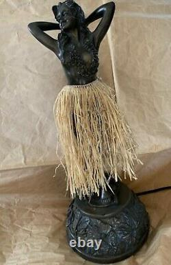 Vintage Style Bronze Motion Hula Lamp 36 with Shade