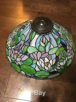 Vintage tiffany style 20 stained glass lamp shade lotus water lilies aloadofball Images