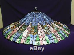 Vintage Tiffany Style Lotus Leaf Lamp Shade / Ceiling / Chandelier 28 1/2