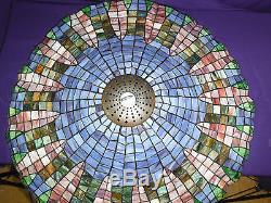 Vintage tiffany style lotus leaf lamp shade ceiling chandelier vintage tiffany style lotus leaf lamp shade ceiling chandelier 28 12 audiocablefo